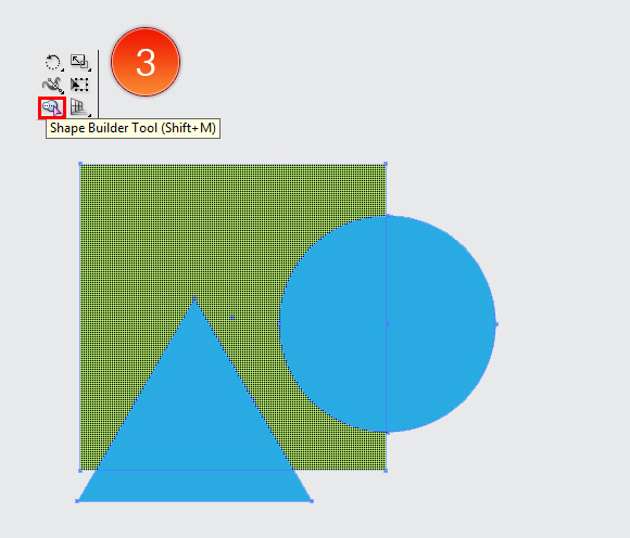 Shape Builder Tool in Adobe Illustrator CS5 3