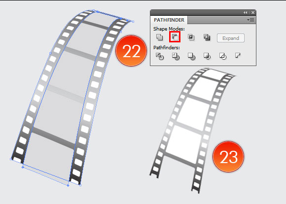 Film Can, Reel and Clapper Board Vector Tutorial in Illustrator CS5 – Part III 14