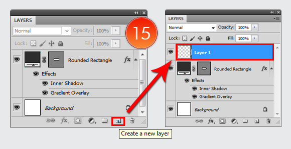 Shiny Button in Adobe Photoshop CS5 9