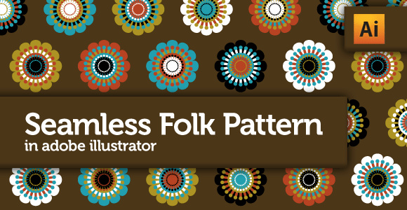 Seamless Folk Pattern in Adobe Illustrator CS