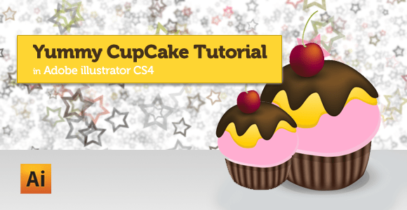 Yummy cupecake tutorial in adobe illustrator cs4