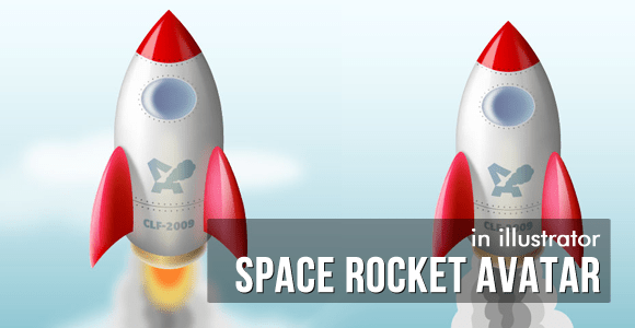 Space Rocket Avatar -Illustrator Vector Tutorial