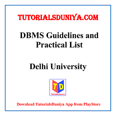 DBMS Guidelines and Programs List PDF