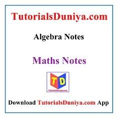 Algebra Handwritten Notes PDF