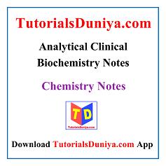 Analytical Clinical Biochemistry Handwritten Notes PDF