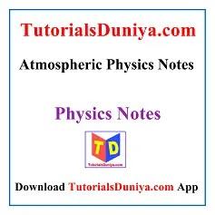 Atmospheric Physics Notes PDF