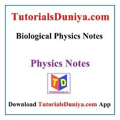 Biological Physics Notes PDF
