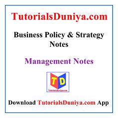 Business Policy and Strategy Notes PDF