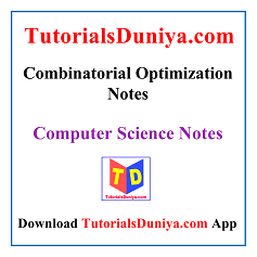 Combinatorial Optimization Notes PDF