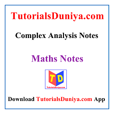 Complex Analysis Notes PDF