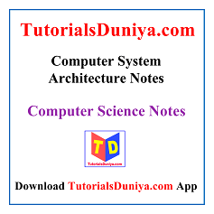 Computer System Architecture Notes PDF