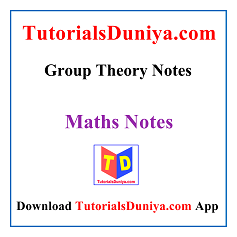 Group Theory Notes PDF