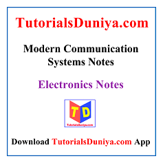 Modern Communication Systems Notes PDF