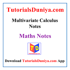 Multivariate Calculus Notes PDF