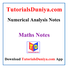 Numerical Analysis Notes PDF