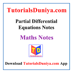 Partial Differential Equations Notes PDF
