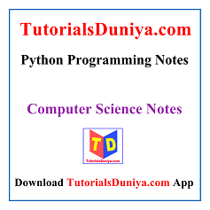 Python Programming Notes PDF