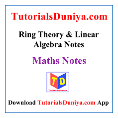 Ring Theory & Linear Algebra Notes PDF