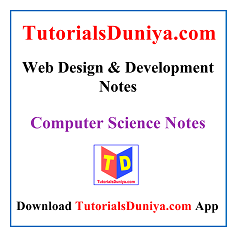Web Design & Development Notes PDF