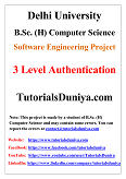 3 Level Authentication Software Engineering Project PDF