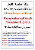 Examination and Result Management System Software Engineering Project PDF