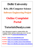 Online Complaint Portal Software Engineering Project PDF