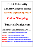 Online Shopping Software Engineering Project PDF