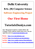 Our First Home Software Engineering Project PDF
