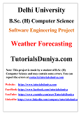 Weather ForeCasting Software Engineering Project PDF