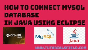 How to connect mysql database in java using eclipse