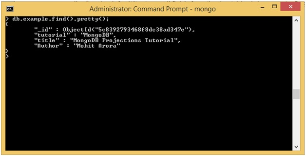 MongoDB Projection Examples