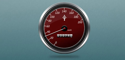 Create a Speed Gauge and Watch Icon - screen shot.