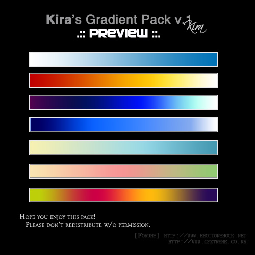 Gradients v 1    Insane by winterbrahma Awesome collection of Layer Styles for Photoshop