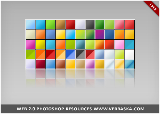 Web 2 0 Photoshop gradients by verbaska Awesome collection of Layer Styles for Photoshop