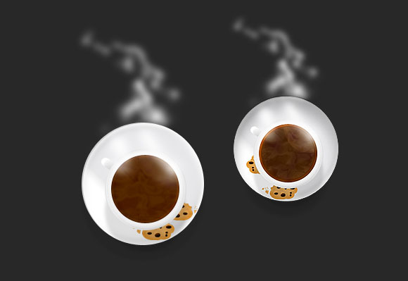 Coffee and Cookies Design Photoshop Tutorial