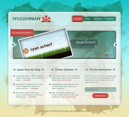 Excellent Tutorials of Web Layout Design in Photoshop