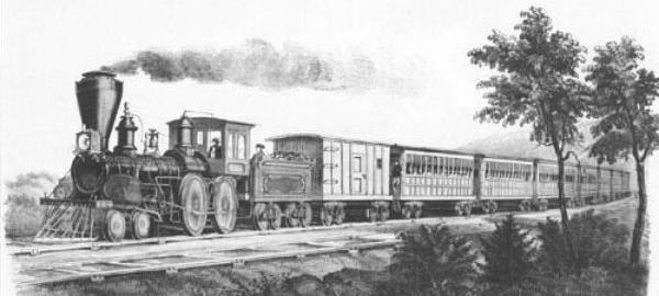 Railway was developed in 1850's