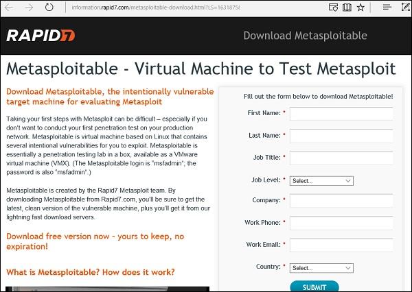 Métasploitable Comment installer et configurer kali linux dans virtuel box