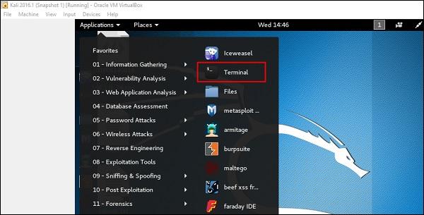 Terminal Comment installer et configurer kali linux dans virtuel box