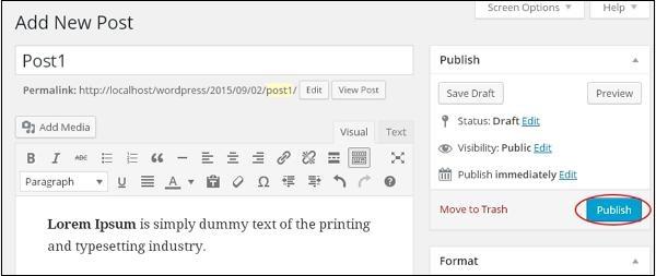 Wordpress Add Posts