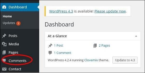 WordPress Edit Comments