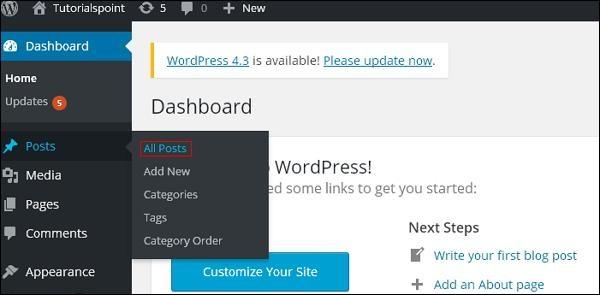 WordPress Edit Posts