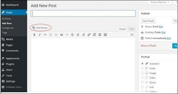 WordPress Insert Media