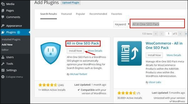wordPress install plugins