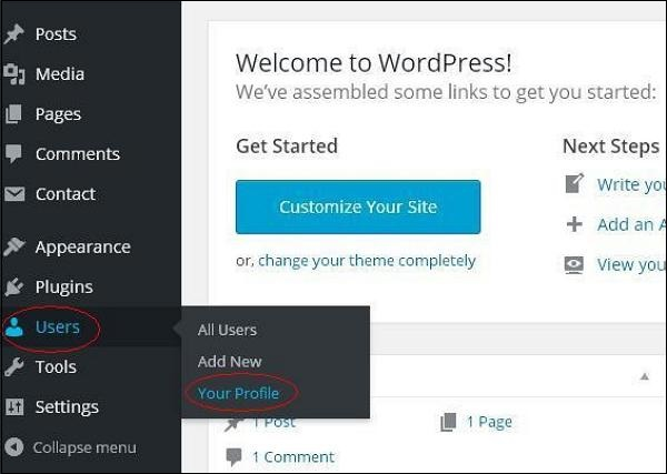 WordPress Personal Profile