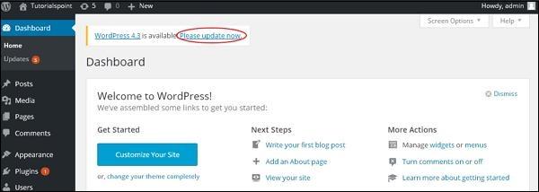 WordPress Version Update