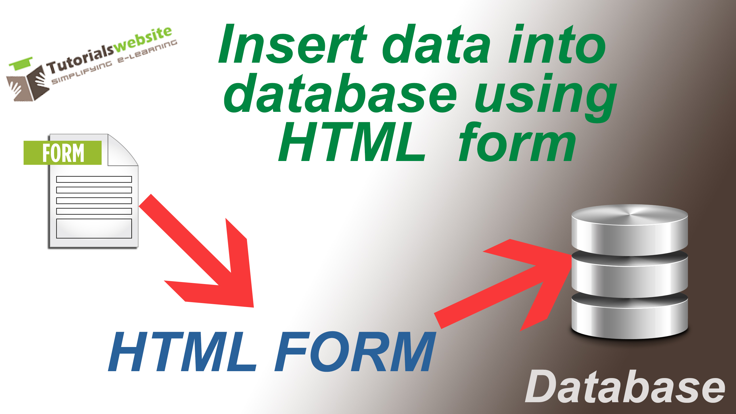 """How to insert data into database using HTML form"" is locked How to insert data into database using HTML form"