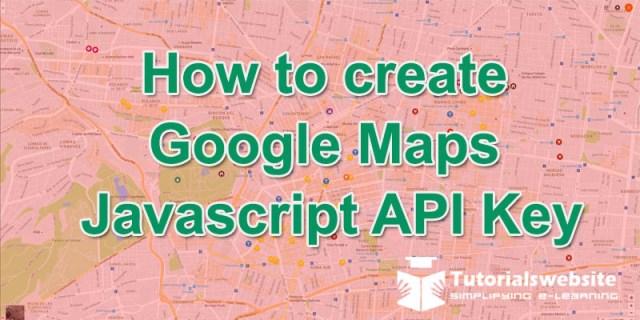 Google map javascript api key