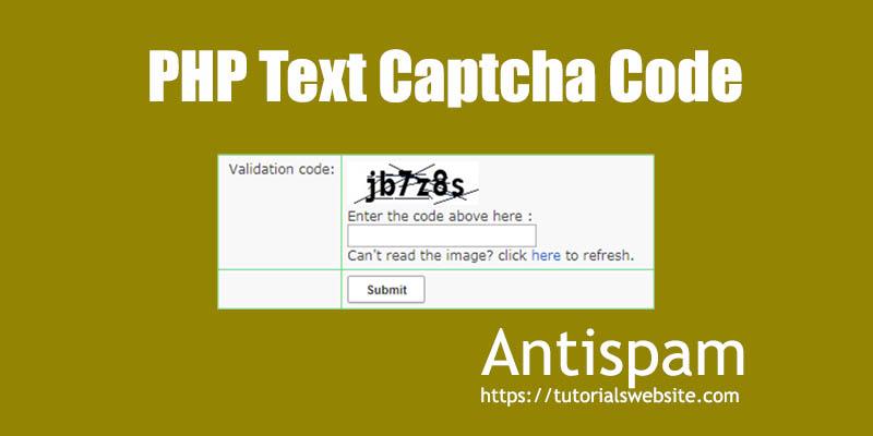 php captcha code