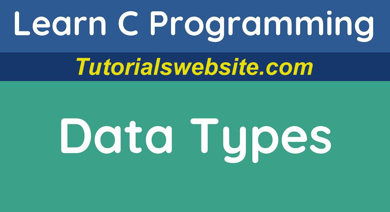 data-typas-in-c